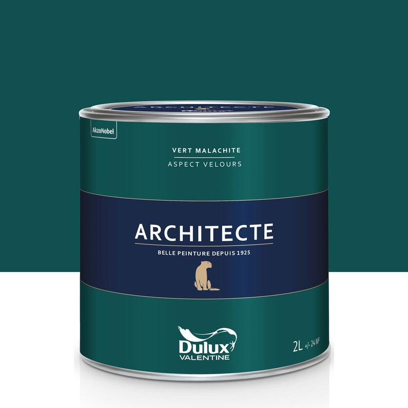 peinture vert malachite velours dulux valentine architecte. Black Bedroom Furniture Sets. Home Design Ideas