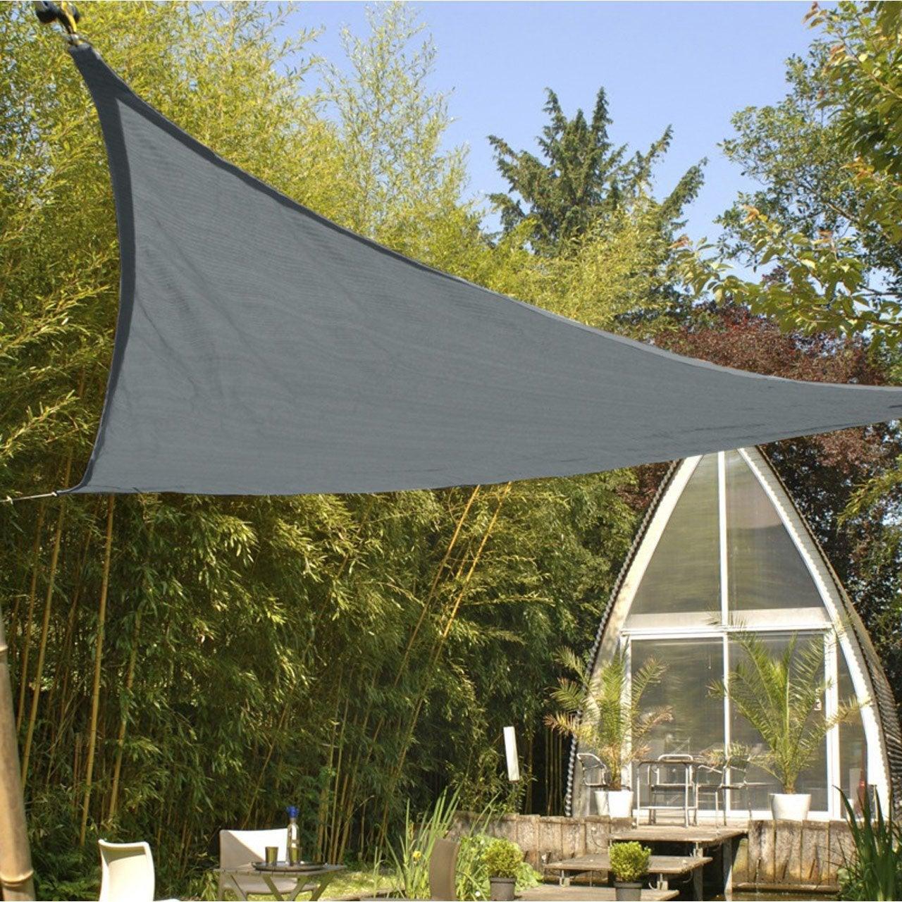 Voile d\'ombrage triangle ardoise L.360 x l.360 cm | Leroy Merlin