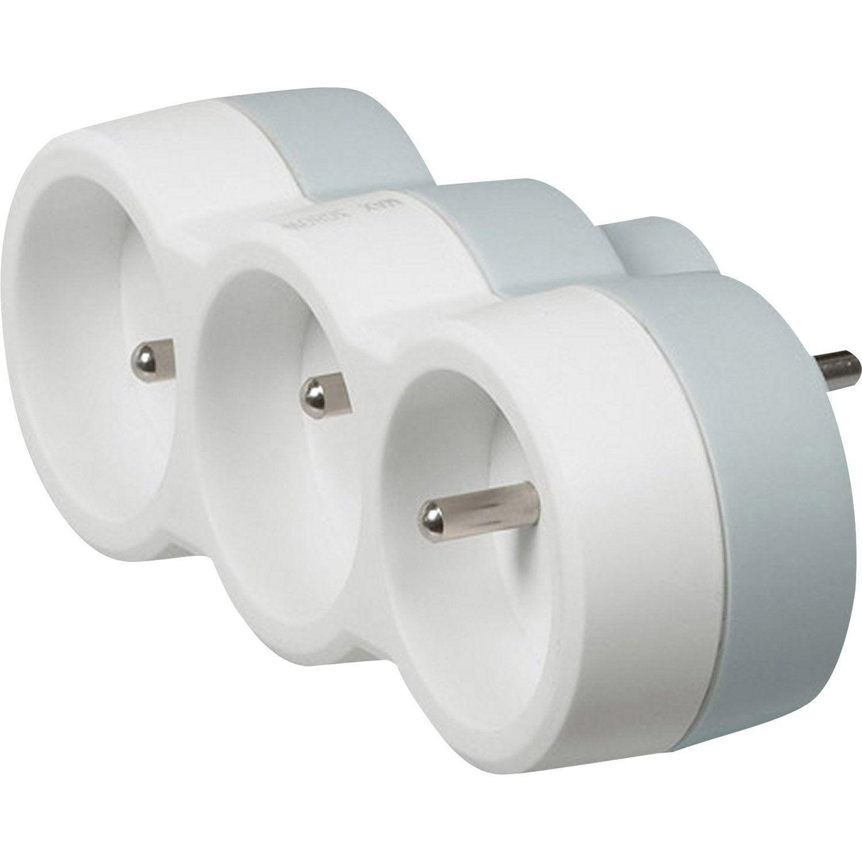 multiprise sans fil 3 prises blanc legrand leroy merlin. Black Bedroom Furniture Sets. Home Design Ideas