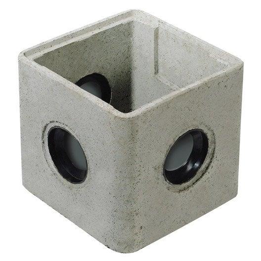 regard à joints incorporés rmj25 béton, l.250 x l.250 mm | leroy