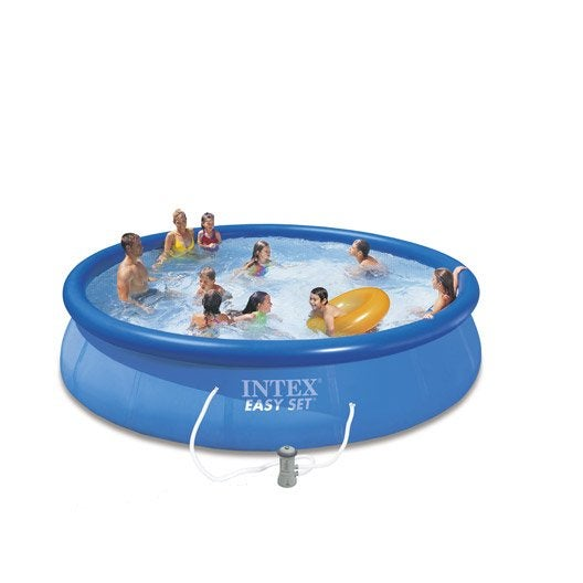 Piscine hors sol autoportante gonflable easy set intex for Dimension piscine hors sol intex