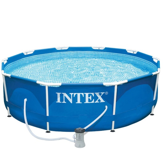 Piscine hors sol autoportante tubulaire metal frame intex for Liner piscine hors sol leroy merlin