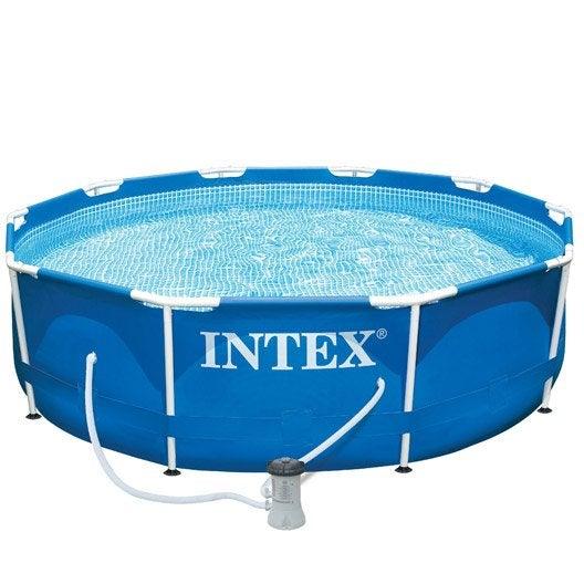 Piscine hors sol autoportante tubulaire m tal frame intex diam x h m leroy merlin - Pompe piscine intex saint etienne ...