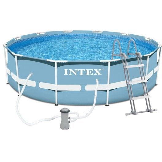 piscine hors sol autoportante tubulaire prism frame intex diam x h m leroy merlin. Black Bedroom Furniture Sets. Home Design Ideas