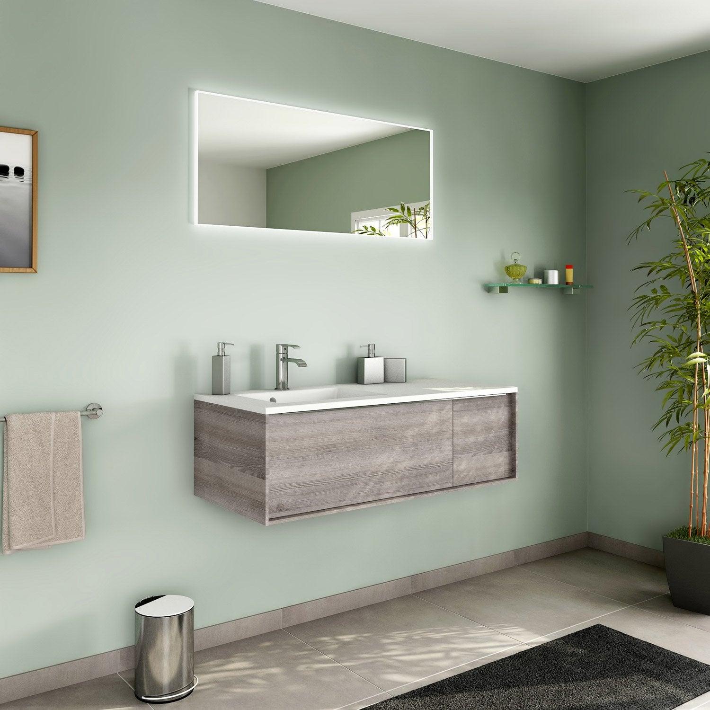 meuble de salle de bains de 100 119 marron neo frame leroy merlin. Black Bedroom Furniture Sets. Home Design Ideas