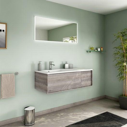 meuble de salle de bains de 100 à 119, marron, neo frame   leroy