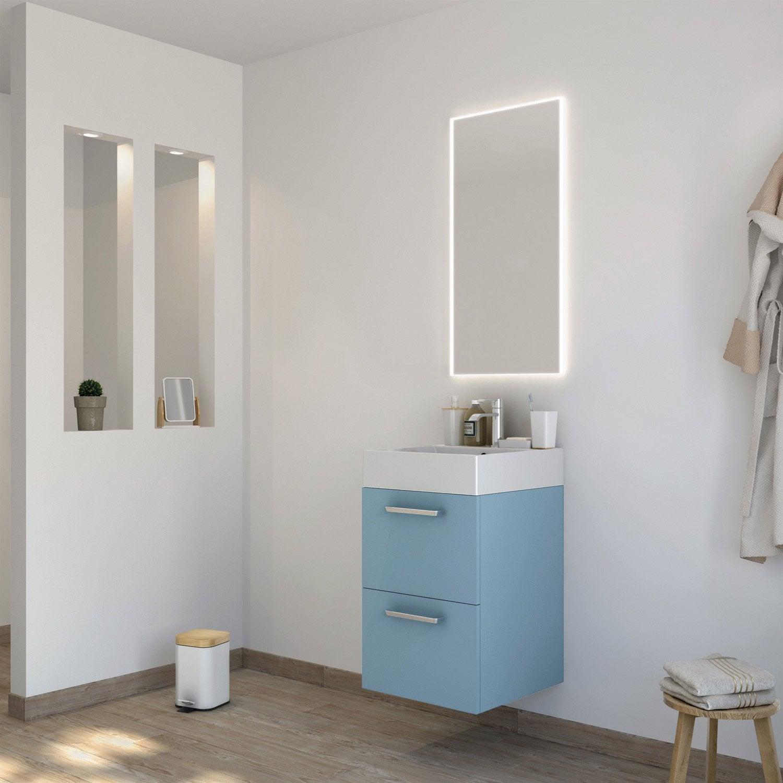 Meuble de salle de bains moins de 60 bleu neo line for Meubles concept avis