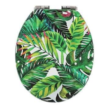 Abattant frein de chute déclipsable multicolore bois compressé Jungle