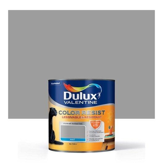 Peinture gris aluminium dulux valentine color resist 1 l leroy merlin for Peinture radiateur couleur aluminium