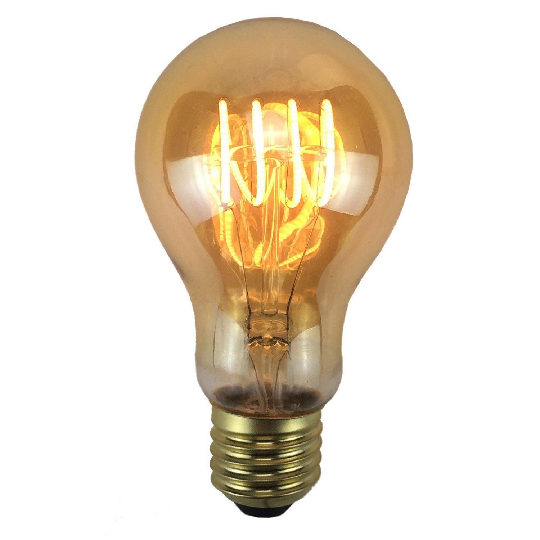 Ampoule Filament Led E27 4w 240lm Quiv 35w 2200k Leroy Merlin