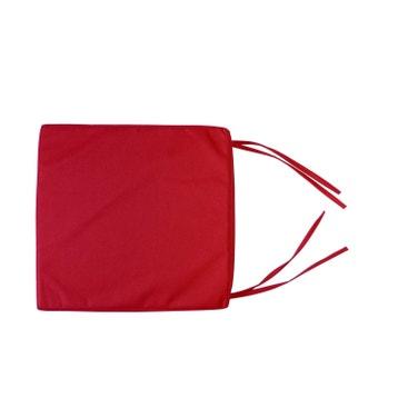 Galette De Chaise Impermable Dperlante Rouge L38