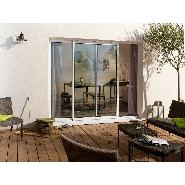 baie vitr e aluminium blanc brico essentiel x. Black Bedroom Furniture Sets. Home Design Ideas