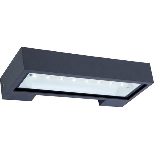 Applique solaire ipanema 300 lm gris inspire leroy merlin - Lampe solaire jardin leroy merlin ...