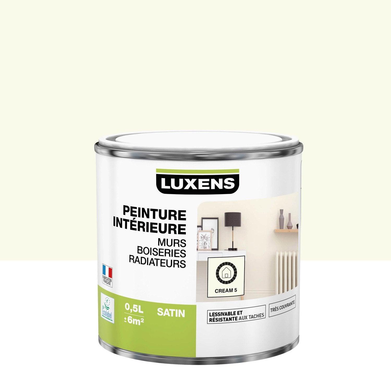 Peinture cream 5 satin LUXENS 0.5 l