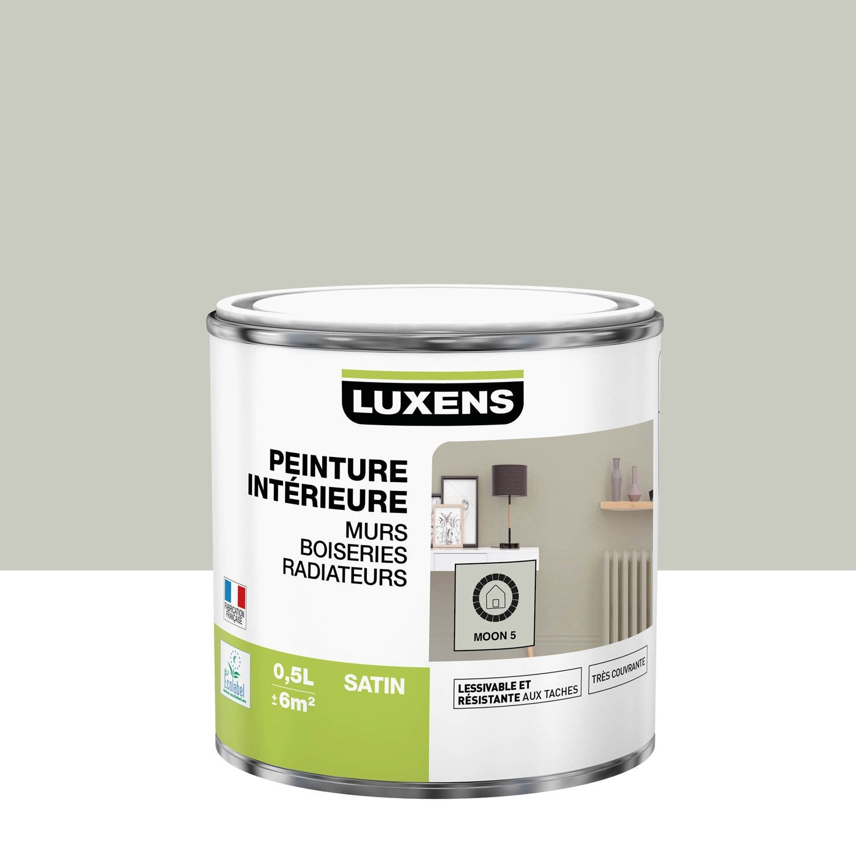 Peinture mur, boiserie, radiateur Multisupports LUXENS, moon 5, 0.5 l, satin