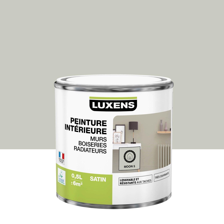 Peinture mur, boiserie, radiateur Multisupports LUXENS moon 5 satiné 0.5 l