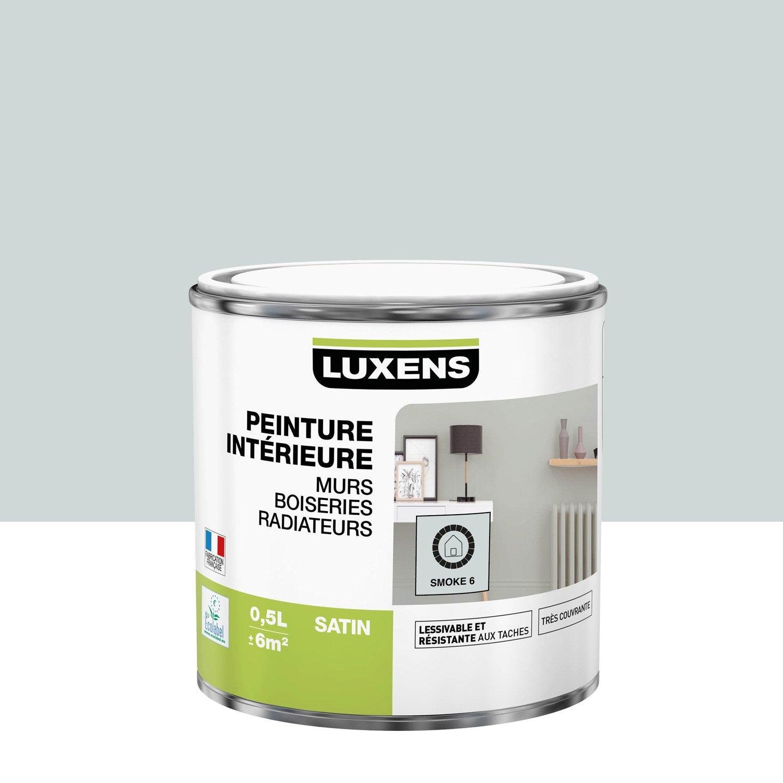 Peinture mur, boiserie, radiateur Multisupports LUXENS, smoke 6, 0.5 l, satin