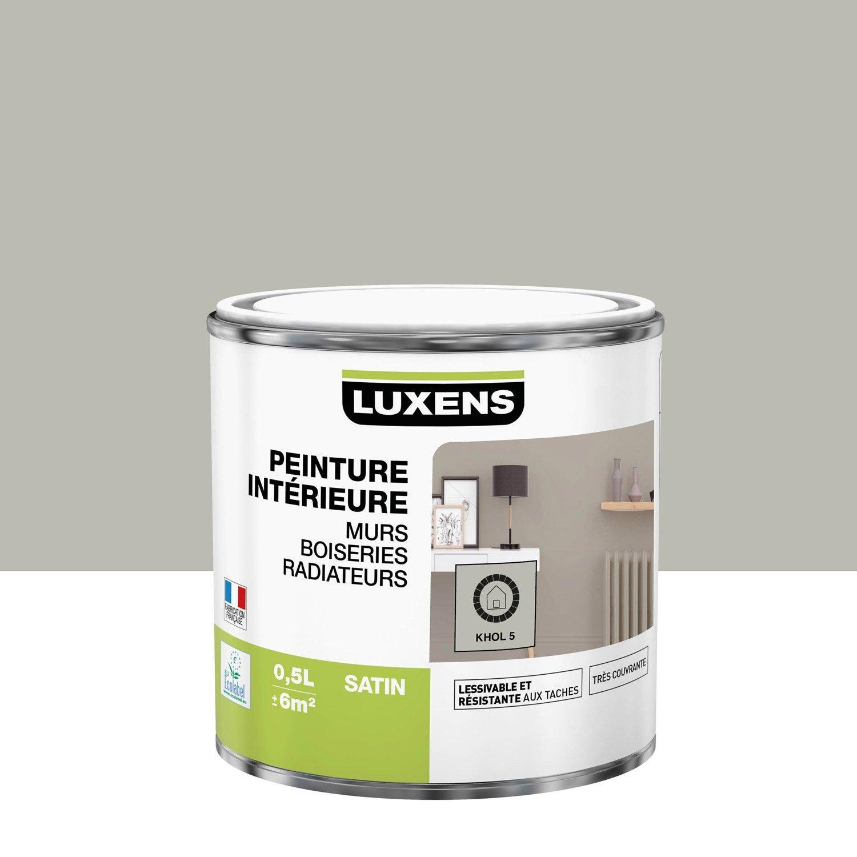Peinture mur, boiserie, radiateur Multisupports LUXENS, khol 5, 0.5 l, satin
