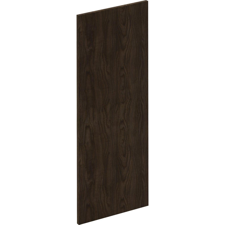 Porte de cuisine Siena effet bois foncé, DELINIA ID H.102.1 x l.39.7 cm