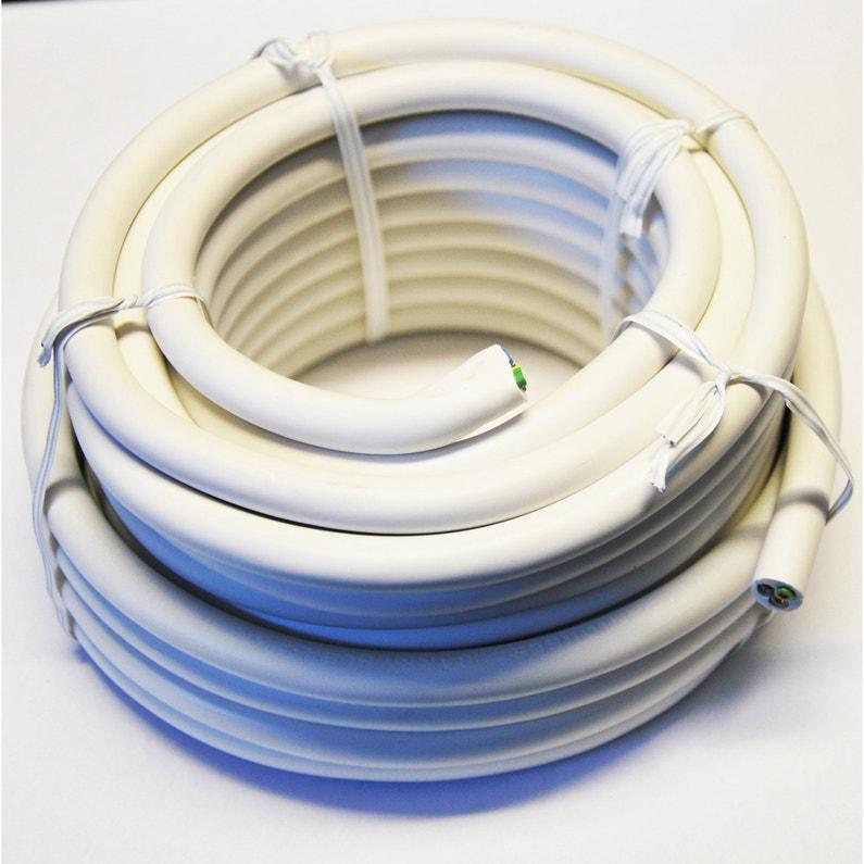 Câble électrique 3 G 25 Mm² Ho5vvf L25 M Blanc