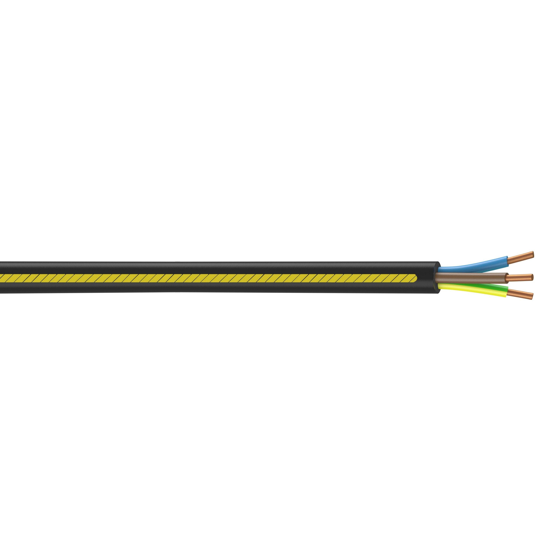 câble électrique u1000r2v noir l3 m 25 mm²  leroy merlin