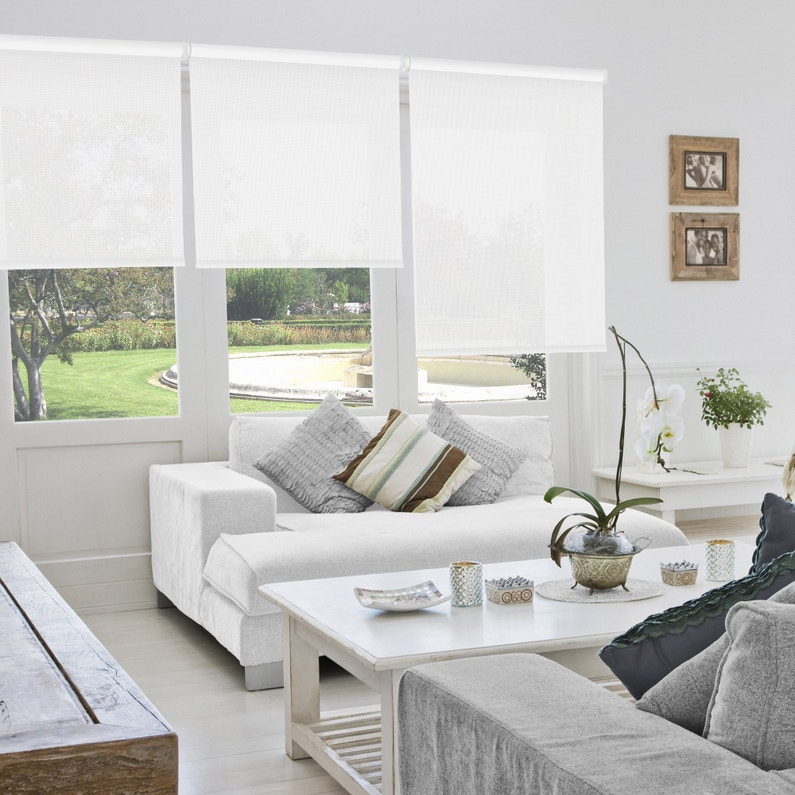 Store Enrouleur Tamisant Blanc Screen 5 L120 X 250 Cm