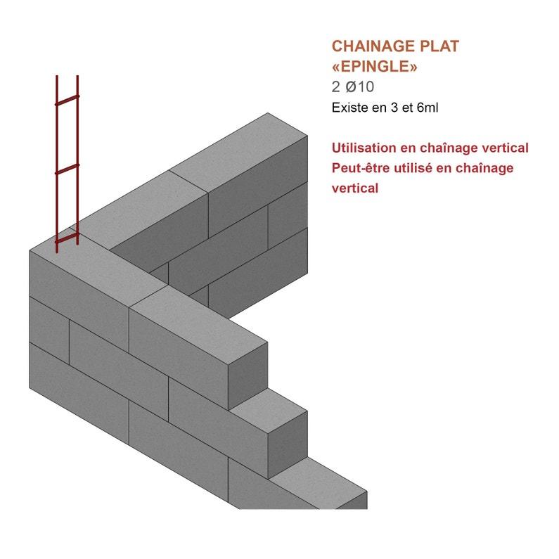 Chaînage Plat Diam10 Mm L 6 M