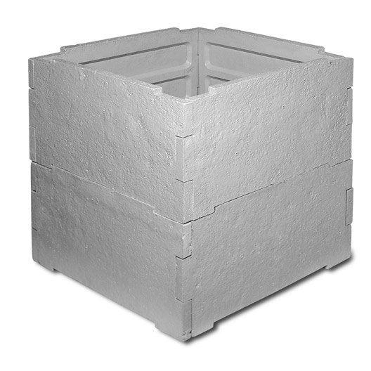 abri pour compteur d'eau rm béton, l.800 x l.800 mm | leroy merlin