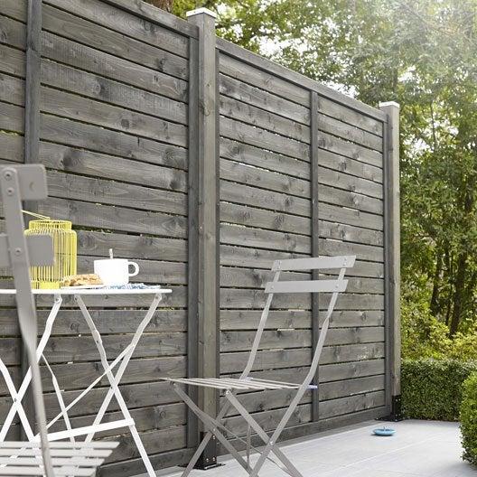 panneau bois ajour ventigo x cm gris leroy merlin. Black Bedroom Furniture Sets. Home Design Ideas