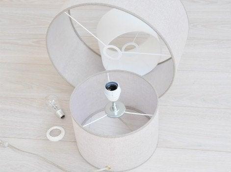 montez les deux abat jours ensemble et ajouter le troisi me de 10 cm de diam tre vissez l 39 ampoule. Black Bedroom Furniture Sets. Home Design Ideas
