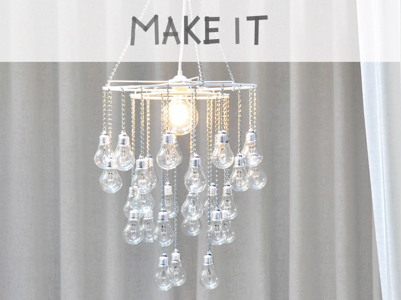 DIY : Recycler des vieilles ampoules et créer un lustre à pampilles