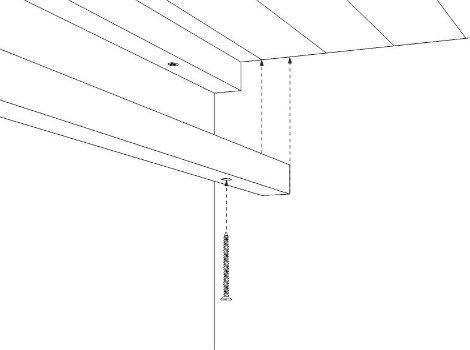 Comment r aliser un plafond en tasseaux leroy merlin for Comment poser du lambris bois au mur