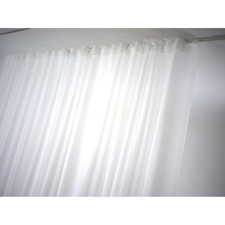 voilage tamisant grande largeur linette blanc x h. Black Bedroom Furniture Sets. Home Design Ideas