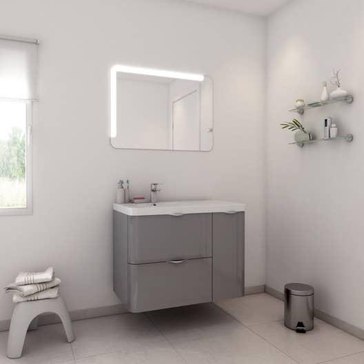 Salle De Bain Neo Shine ~ meuble de salle de bains de 80 99 gris argent neo shine