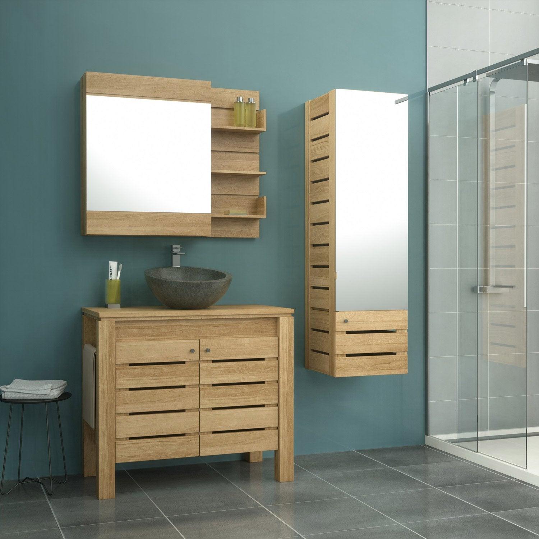 meuble de salle de bains de 80 99 marron moorea. Black Bedroom Furniture Sets. Home Design Ideas