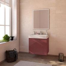 Meuble de salle de bains de 60 à 79, rouge, Neo line
