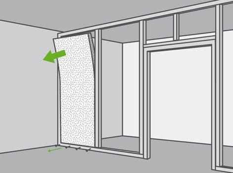 comment d molir une cloison en plaque de pl tre sur ossature m tallique leroy merlin. Black Bedroom Furniture Sets. Home Design Ideas