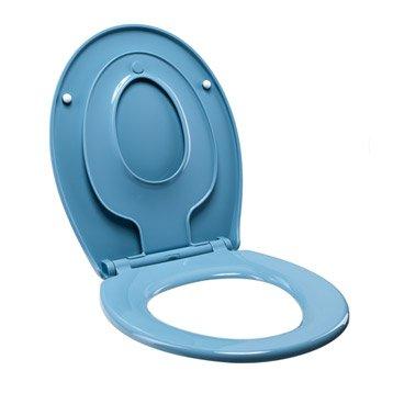 Abattant frein de chute déclipsable bleu plastique thermodur, SENSEA Familia