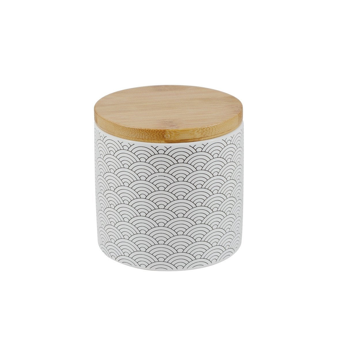 Boîte céramique Okino, noir et blanc