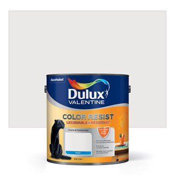 Peinture blanc pur DULUX VALENTINE Color resist 2.5 l