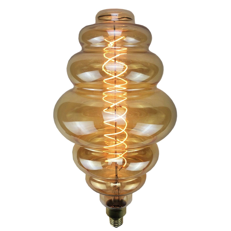 ampoule filament led d corative e27 4w 240lm quiv 35w 2200k leroy merlin. Black Bedroom Furniture Sets. Home Design Ideas