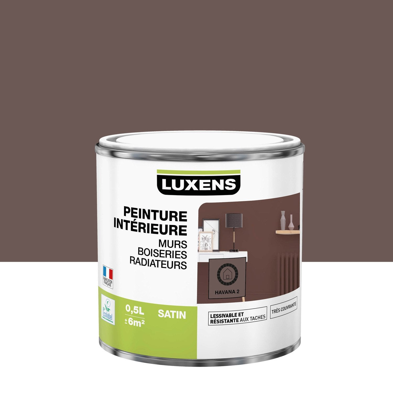 Peinture, mur, boiserie, radiateur, Multisupports LUXENS, havana 2, satin, 0.5 l