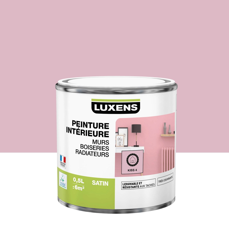 Peinture mur, boiserie, radiateur Multisupports LUXENS, kiss 4, 0.5 l, satin