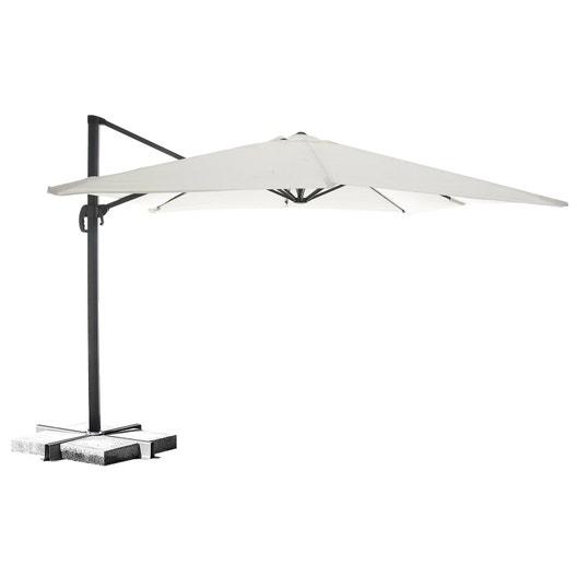 parasol d port hera ivoire carr x cm leroy merlin. Black Bedroom Furniture Sets. Home Design Ideas