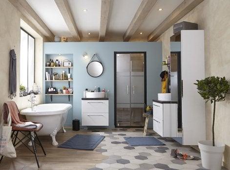 Comment Choisir Son Tapis De Salle De Bains Leroy Merlin - Carrelage salle de bain et tapis yoga epais