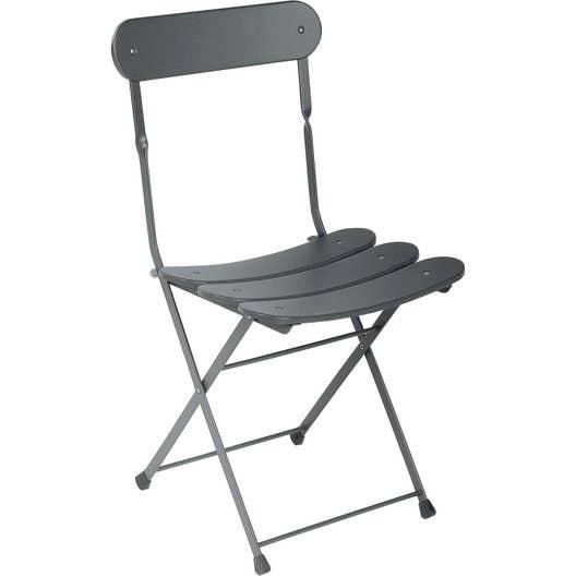 Chaise de jardin en acier Cassis fer ancien | Leroy Merlin