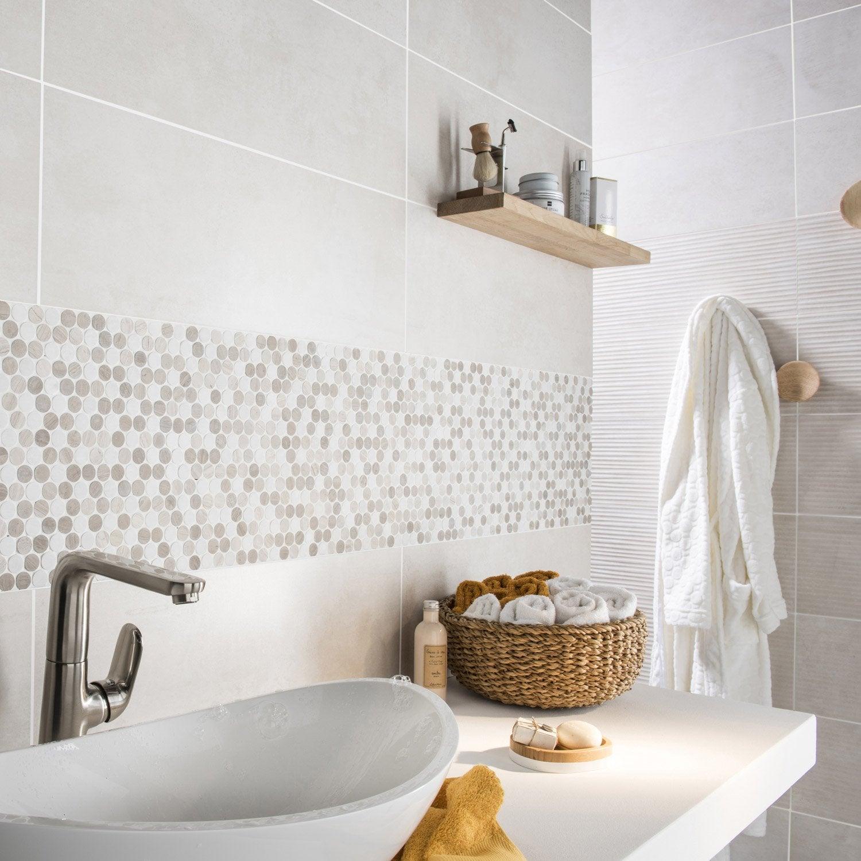 Faïence mur beige, Décor live l.24 x L.69 cm | Leroy Merlin