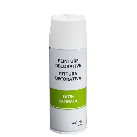 Bombe de peinture int rieure a rosol peinture spray for Peinture blanc satin