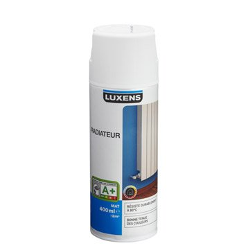 Peinture aérosol mat LUXENS, blanc blanc n°0, 0.4 l