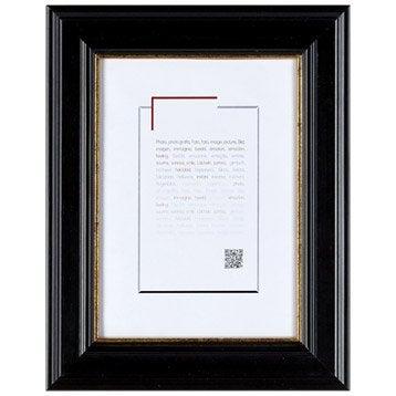 Cadre Gaïa, 10 x 15 cm, noir